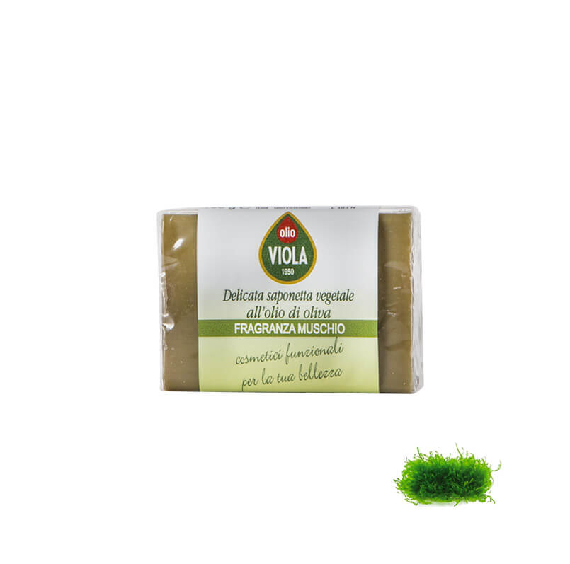 Saponette assortite e olio d'oliva shop olio viola - MUSCHIO