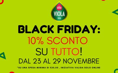 È arrivato il Black Friday da Olio Viola!